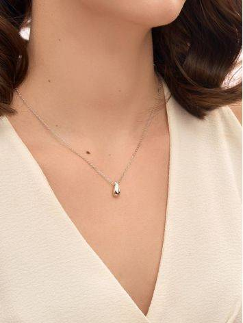 Fabulous Sterling Silver Teardrop Pendant Necklace The Liquid, image , picture 3