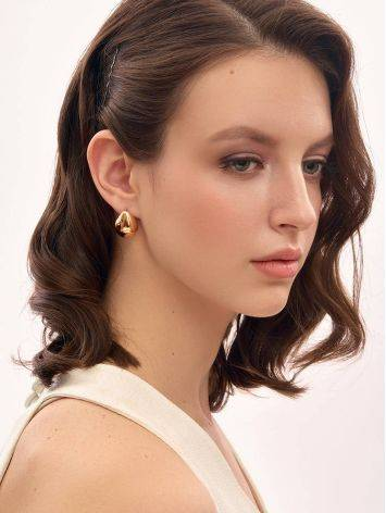 Statement Rose Gold Plated Silver TearDrop Earrings The Liquid, image , picture 3