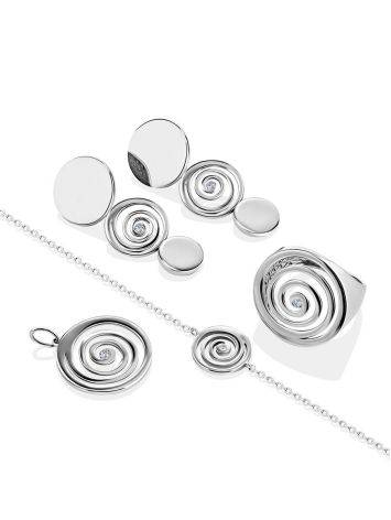 Amazing Silver Bracelet With Spiral Design Detail The Enigma Collection, Length: 19, image , picture 4
