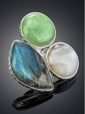 Statement Multi Stone Cocktail Ring The Bella Terra, Ring Size: 8.5 / 18.5, image , picture 2