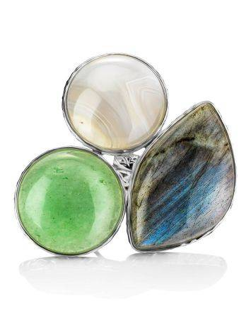 Statement Multi Stone Cocktail Ring The Bella Terra, Ring Size: 8.5 / 18.5, image , picture 3
