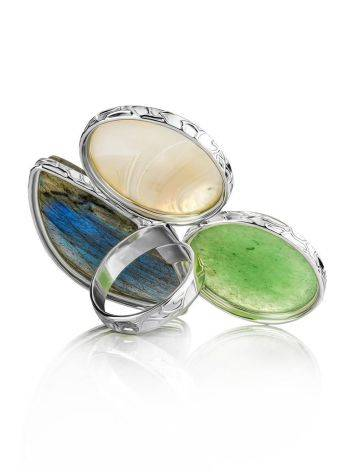 Statement Multi Stone Cocktail Ring The Bella Terra, Ring Size: 8.5 / 18.5, image , picture 5