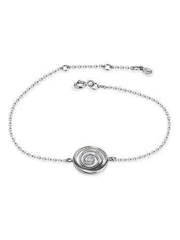 Amazing Silver Bracelet With Spiral Design Detail The Enigma Collection, Length: 19, image