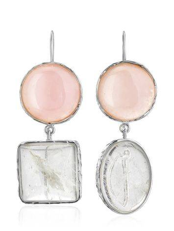 Statement Blush Pink Multi Stone Drop Earrings The Bella Terra, image , picture 3