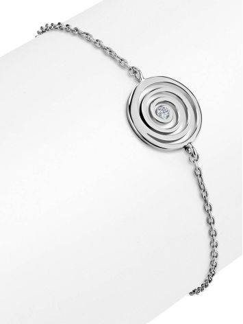 Amazing Silver Bracelet With Spiral Design Detail The Enigma Collection, Length: 19, image , picture 3
