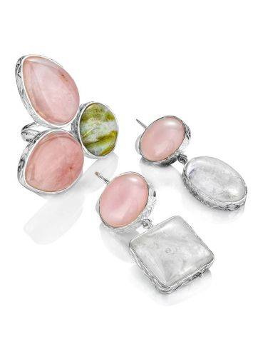 Pink & Green Cluster Cocktail Ring The Bella Terra, Ring Size: 11 / 20.5, image , picture 8
