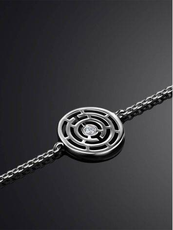 Silver Chain Bracelet With Geometric Detail The Enigma, image , picture 2