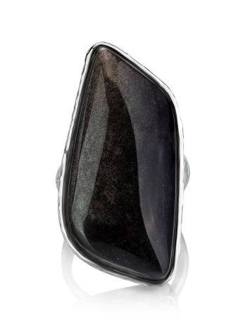 Abstract Black Stone Cocktail Ring The Bella Terra, Ring Size: 8 / 18, image , picture 4