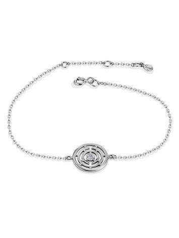 Silver Chain Bracelet With Geometric Detail The Enigma, image