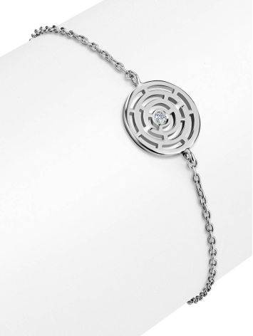 Silver Chain Bracelet With Geometric Detail The Enigma, image , picture 3