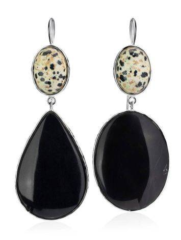 Speckled Mismatched Drop Earrings The Bella Terra, image , picture 4