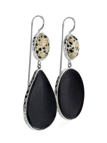 Speckled Mismatched Drop Earrings The Bella Terra, image