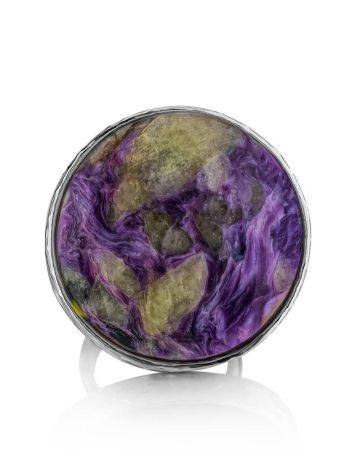 Statement Two Tone Purple Cocktail Ring The Bella Terra, Ring Size: 8 / 18, image , picture 5