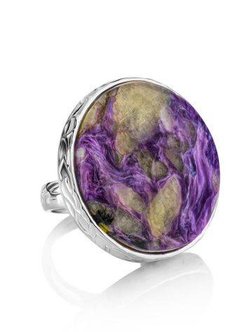 Statement Two Tone Purple Cocktail Ring The Bella Terra, Ring Size: 8 / 18, image