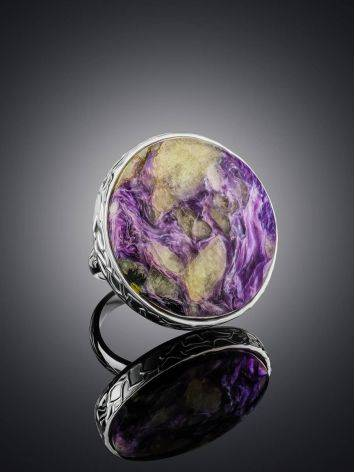 Statement Two Tone Purple Cocktail Ring The Bella Terra, Ring Size: 8 / 18, image , picture 2