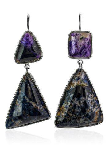 Purple Ombre Mismatched Drop Earrings The Bella Terra, image , picture 4