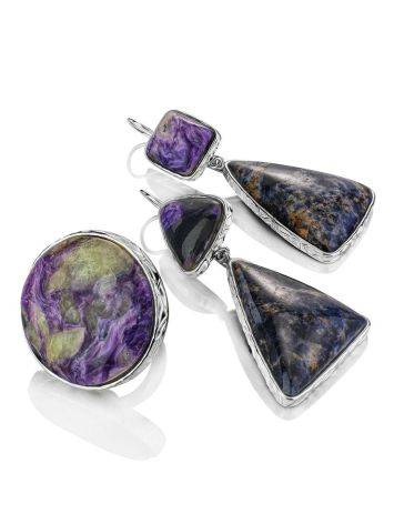 Purple Ombre Mismatched Drop Earrings The Bella Terra, image , picture 5