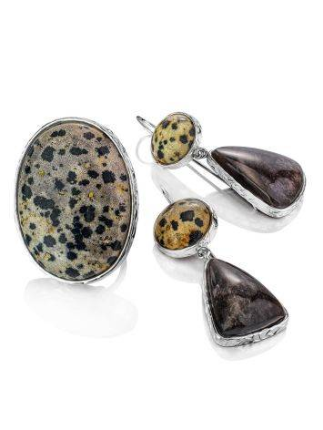 Stunning Speckled Stone Cocktail Ring The Bella Terra, Ring Size: 8 / 18, image , picture 7