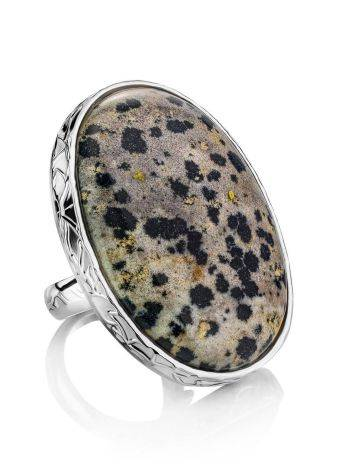 Stunning Speckled Stone Cocktail Ring The Bella Terra, Ring Size: 8 / 18, image