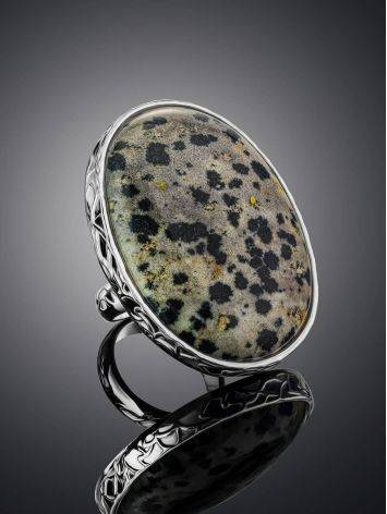 Stunning Speckled Stone Cocktail Ring The Bella Terra, Ring Size: 8 / 18, image , picture 2