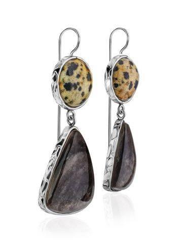 Tortoiseshell Marble Drop Earrings The Bella Terra, image