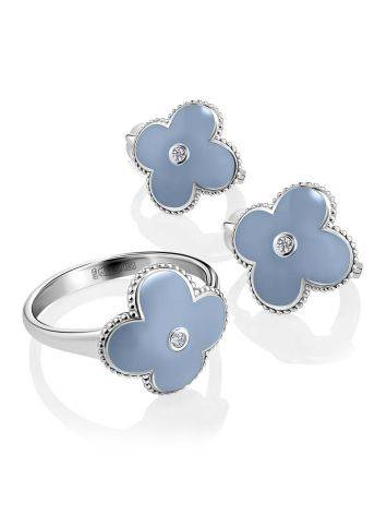 Chic Blue Enamel Earrings With Diamonds The Heritage, image , picture 3