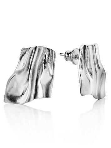 Stylish Modern Silver Earrings The Liquid, image