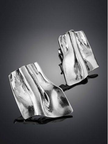 Stylish Modern Silver Earrings The Liquid, image , picture 2