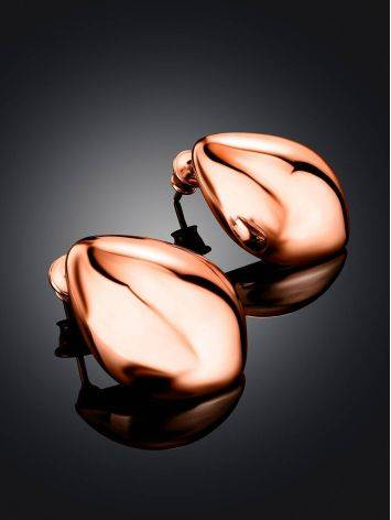 Statement Rose Gold Plated Silver TearDrop Earrings The Liquid, image , picture 2