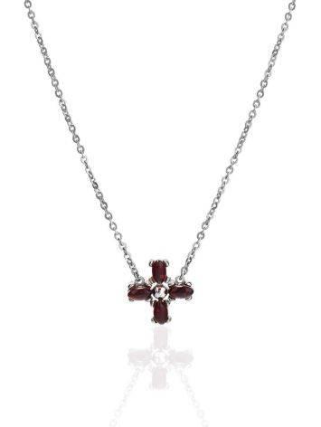 Minimalist Design Silver Amber Necklace, image