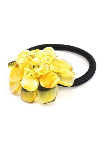 Amber Flower Hair Tie, image , picture 3