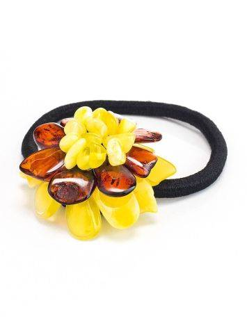 Multicolor Amber Flower Hair Tie, image , picture 3
