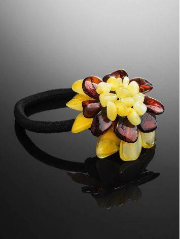 Multicolor Amber Flower Hair Tie, image , picture 2