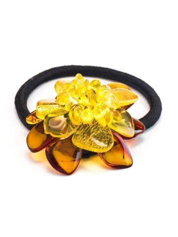 Amber Flower Hair Tie, image