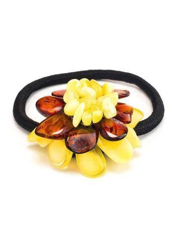 Multicolor Amber Flower Hair Tie, image