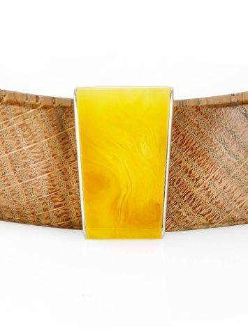 Wooden Choker With Honey Amber And Silver The Indonesia, image , picture 9
