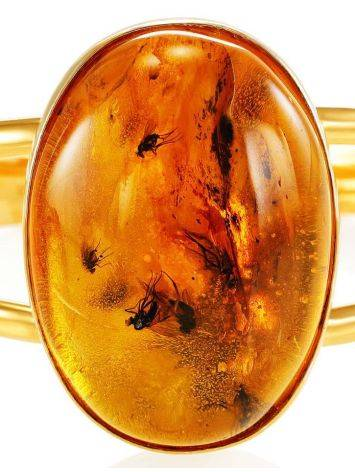 Cuff Amber Bracelet In Gold Plated Silver The Clio, image , picture 5