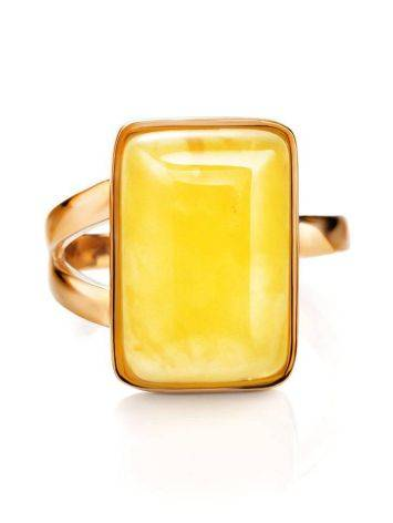 Stylish Natural Honey Amber Ring The Copenhagen, Ring Size: 5.5 / 16, image , picture 4