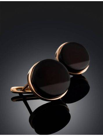 Cherry Amber Gold Plated Earrings The Furor, image , picture 2