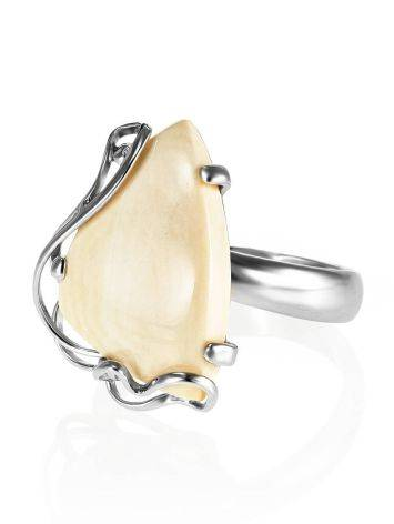 Handcrafted Silver Ring With Mammoth Tusk The Era, Ring Size: Adjustable, image , picture 3