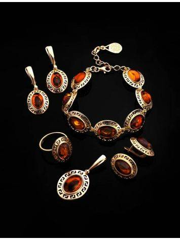 Link Amber Bracelet In Gold Plated Silver The Ellas, image , picture 4