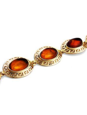 Link Amber Bracelet In Gold Plated Silver The Ellas, image , picture 3