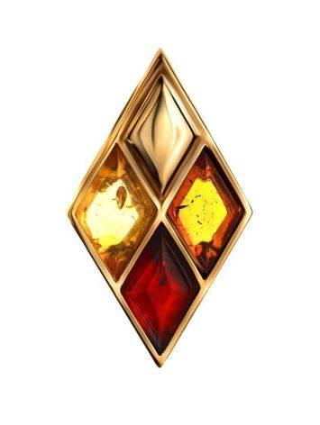 Geometric Multicolor Amber Pendant The Colombina, image