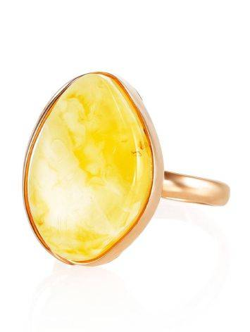 Lustrous Honey Amber Ring The Lagoon, Ring Size: 6.5 / 17, image , picture 2