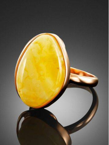 Lustrous Honey Amber Ring The Lagoon, Ring Size: 6.5 / 17, image , picture 3