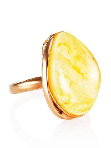 Lustrous Honey Amber Ring The Lagoon, Ring Size: 6.5 / 17, image