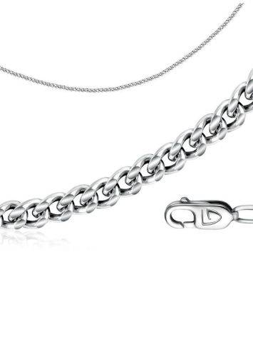 Versatile Silver Singapore Rope Chain, Length: 45, image