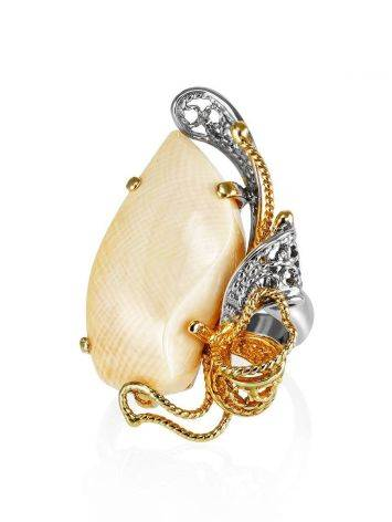 Adjustable Gold-Plated Ring With Mammoth Tusk The Era, Ring Size: Adjustable, image , picture 3