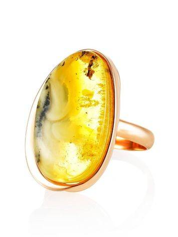Luminous Amber Cocktail Ring The Lagoon, Ring Size: 8.5 / 18.5, image , picture 3