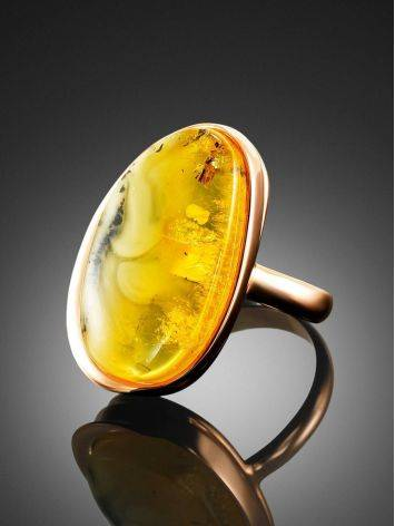 Luminous Amber Cocktail Ring The Lagoon, Ring Size: 8.5 / 18.5, image , picture 2